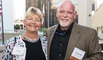 Two guests at the Distinguished Alumni Awards and Reunion Celebration