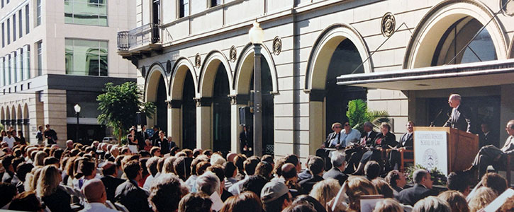 Justice Anthony Kennedy dedicating the law library opening