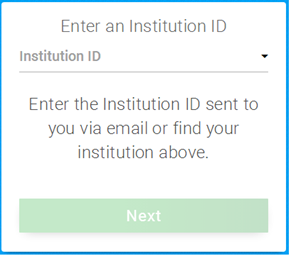 Enter CWSL for the Institute ID