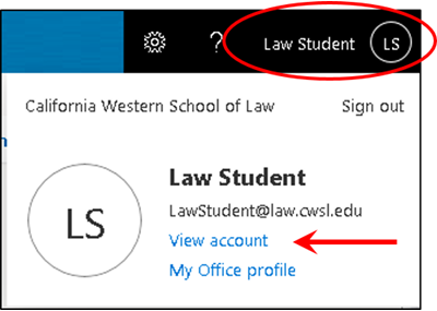 Click your name, then click View Account