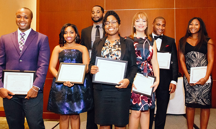 Brandon J. Frazier (Left), Trashon J. Herndon (Third from Left), Sabira Abdulhameed (Fourth from Left) and Rachael J. Bailey (Right)