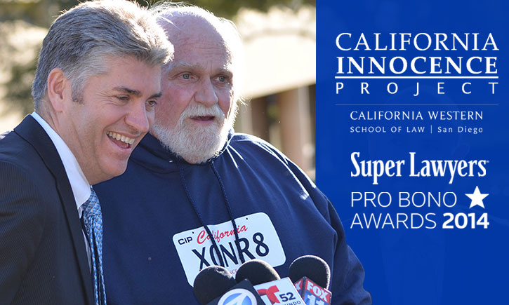 Super Lawyers California Innocence Project Pro Bono Award