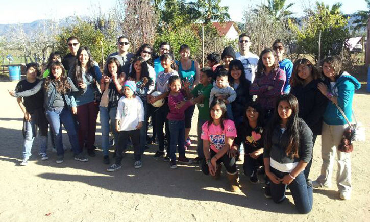 La Raza Law Students and others at El Faro Orphanage in Tijuana, Mexico