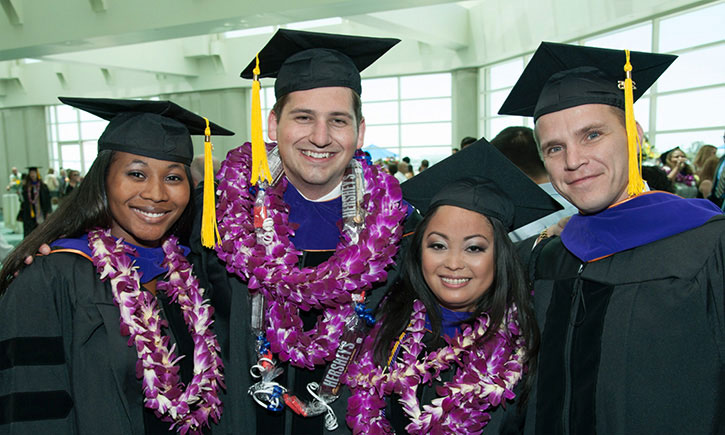 From left: 2015 graduates Rachael J. Bailey, Nicholas Kritikos, Ashley B. Yosuico, and Steven L. Aicher