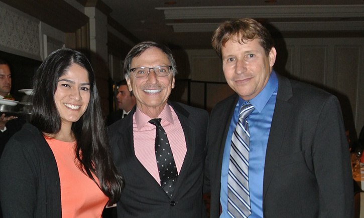 Jennifer N. Monterroso '15, Dean Emeritus Steven R. Smith and Professor Robert R. DeKoven