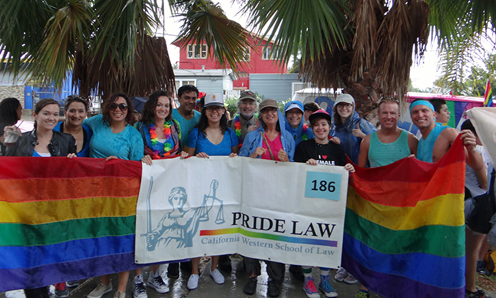 California Western participants at Pride parade