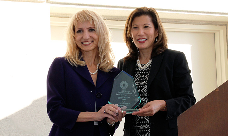 Wendy Patrick '94 with California Supreme Court Chief Justice Tani Cantil-Sakauye