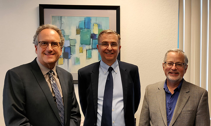 Dean Schaumann and Profs. Ken Klein and Glenn Smith
