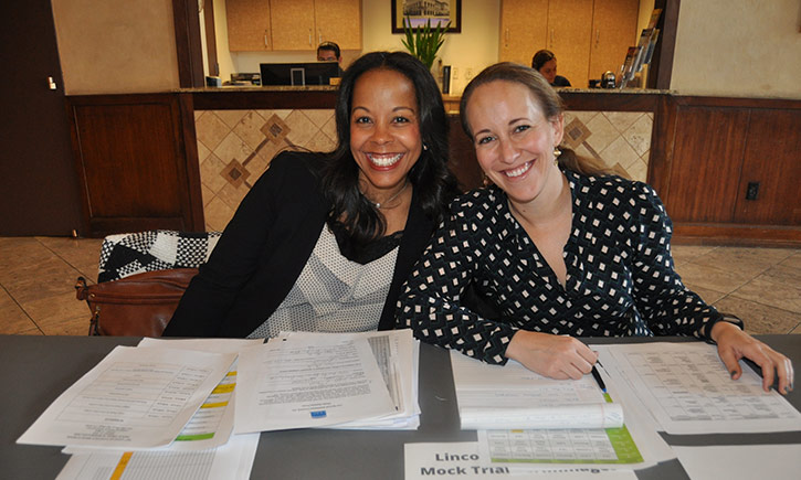 Attorneys Yahairah Aristy and Sarah Shekhter