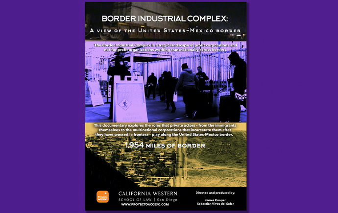 Poster for the documentary Border Industrial Complex: Stories from the United States-Mexico Border