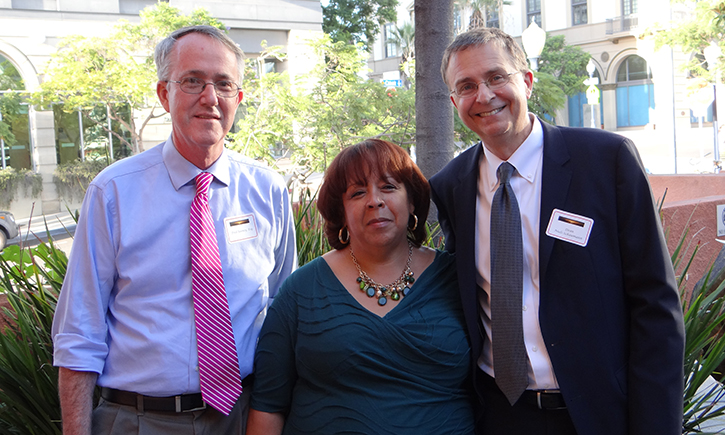 From left: Fred Rooney, Consultant, Access to Law Initiative; Hon. Fern A. Fisher; Dean Niels B. Schaumann