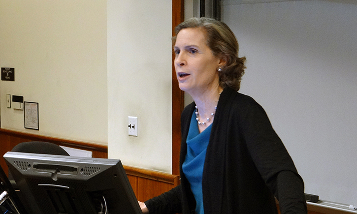 Professor Susan Crawford Delivers the DeWitt Higgs Lecture at California Western