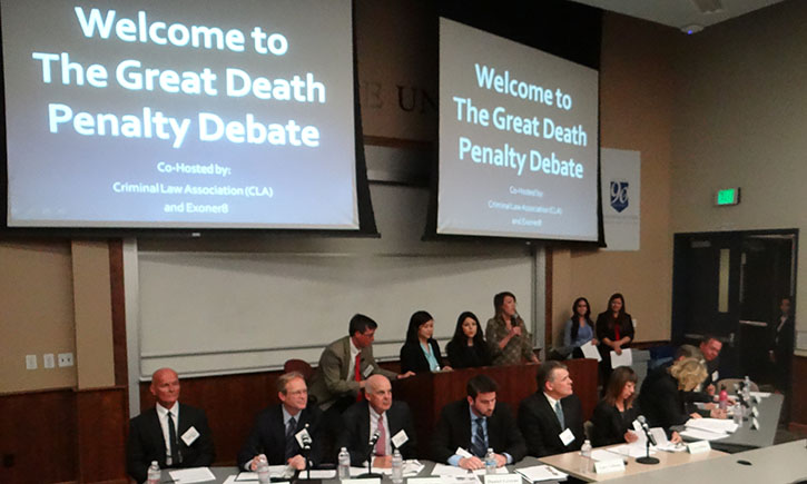 A panel of prosecutors, defense attorneys, law professors, a former associate prison warden, and a one-time death row inmate debate the proposed California death penalty initiative