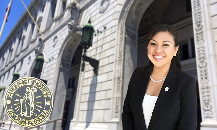 Elizabeth Carino '12 at the California Supreme Court