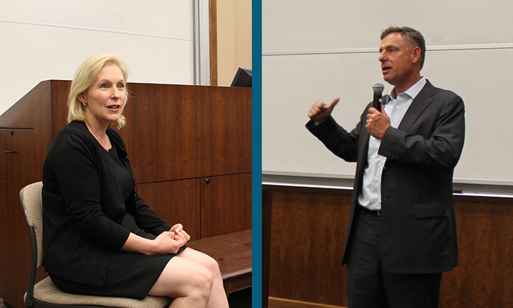 U.S. Sen. Kirsten Gillibrand (D-New York), U.S. Rep. Scott Peters (D-San Diego)