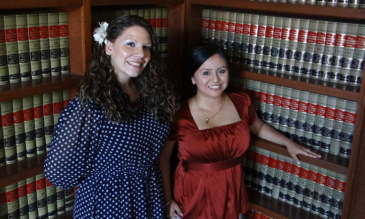 Maigan Wright (left) and Diana Rodriguez Agiss, recipients of San Diego La Raza Lawyers Association bar stipends