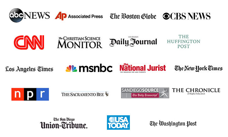 Collage of media outlet logos