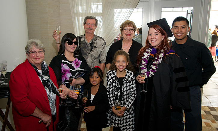 New California Western graduate Allyson E. Calvird and family
