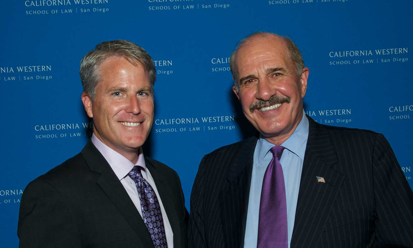 California Western Trustees Michael J. Whitton (left) and Roy M. Bell, colleagues at Troutman Sanders
