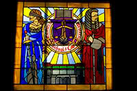Stained glass window from the 350 building