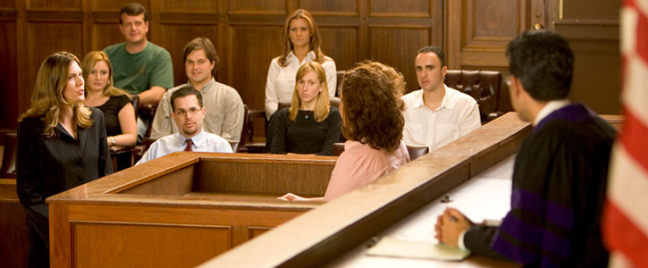 A moot court trial