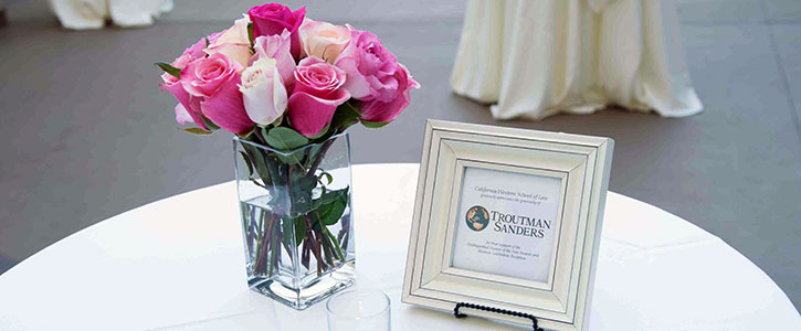 A table setting from the Alumni Reunion