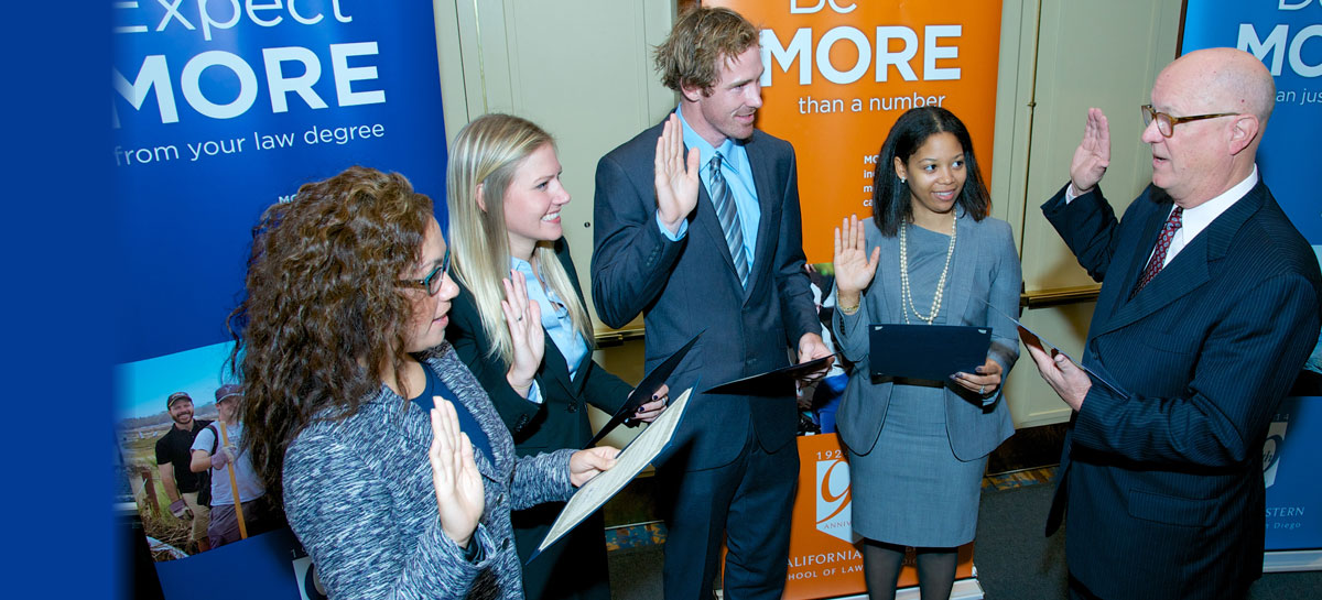 Alumni take the Oath of Professional Conduct
