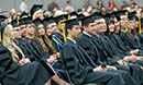 Graduating students at Commencement