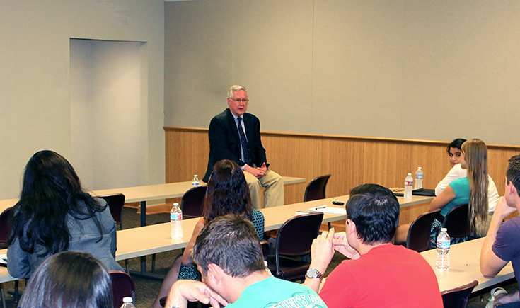 Donn-Allan Titus Meets with California Western Students