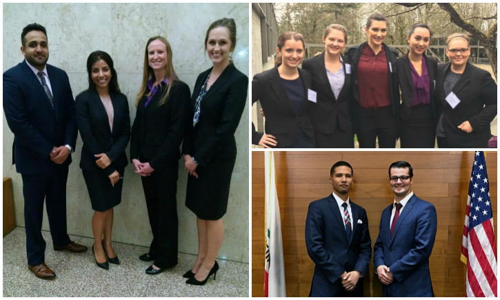 California Western's AAJ, Jessup International, and TYLA competition teams